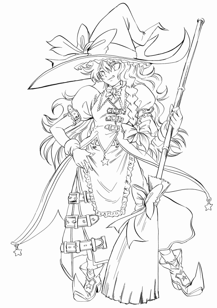 Anime Coloring Pages Printable Coloringpages
